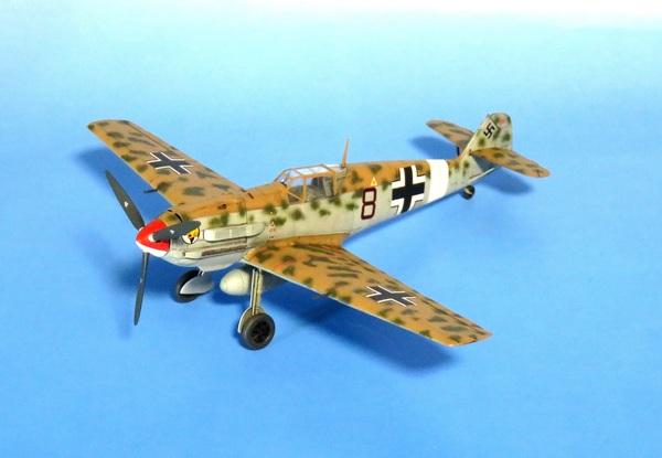 【制作代行】エデュアルド 1/48 Bf 109E-7 Trop 完成サムネイル