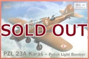 1/72 ポーランド単発軽爆撃機PZL23Aカラシュ