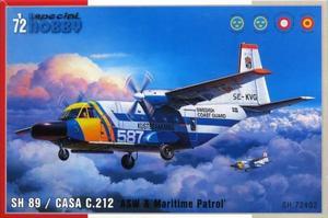 1/72 スウェーデン SH89/CASA C-212哨戒機 沿岸警備隊