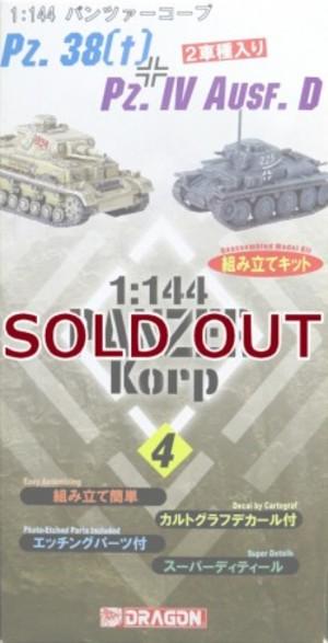 1/144 38t戦車 & IV号戦車D型