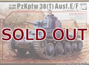 1/16 ドイツ38(t)戦車 E/F型
