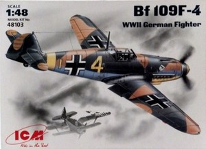 1/48 独・メッサーシュミット Me109F4 戦闘機
