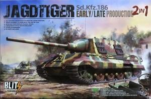 1/35 ヤークトティーガー Sd.Kfz.186 前/後期型 2 in 1