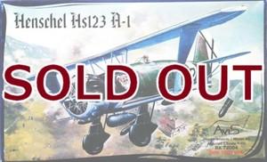 1/72 ヘンシェル Hs123A-1 急降下爆撃機