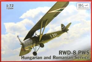 1/72 ポーランド複座練習機RWD-8・ハンガリー&ルーマニア軍仕様