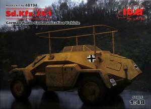 1/48 ドイツ Sd.Kfz.261 無線装甲車