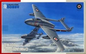 1/72 デハビランド・HD.100 ヴァンパイアF Mk.3 戦闘機