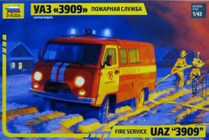 1/43 UAZ`3909` 消防車