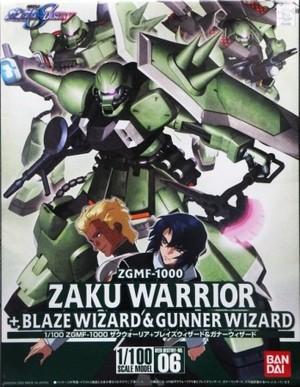 1/100 ZGMF-1000 ザクウォーリア+ブレイズウィザード&ガナーウィザード