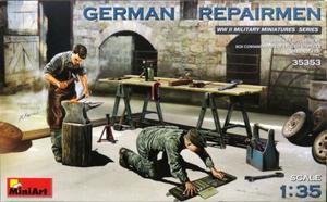 1/35 ドイツ修理工 2体セット (作業台・工具付)