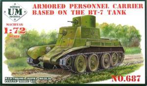1/72 WW.II ソ連 装甲兵員輸送車 (BT-7車体)