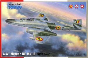 1/72 英・A.W.ミーティアNF Mk.11複座夜間戦闘機・NATO諸国