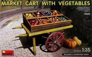 1/35 市場のカートと野菜セット
