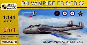 1/144 D.H.バンパイアFB.5 「イギリス連邦」 (2キット入)
