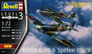 1/72 メッサーシュミット Bf109G-10 & スピットファイア Mk.V 対戦セット