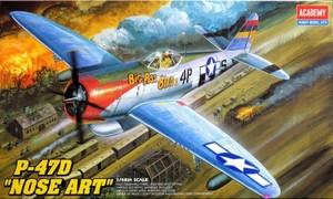 "1/48 P-47D サンダーボルト ""ノーズアート"""
