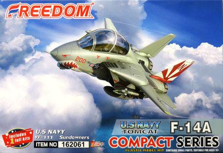 コンパクトシリーズ:F-14A トムキャット 米海軍 VF-111 サンダウナーズ 2 in 1
