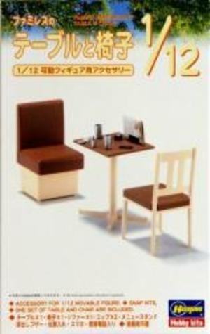 1/12 ファミレスのテーブルと椅子