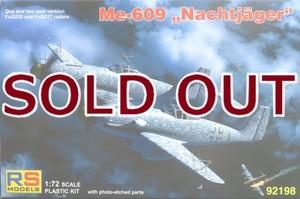 1/72 メッサーシュミット Me609 ナハトイェガー