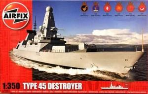 1/350 HMSダーリング 45型駆逐艦