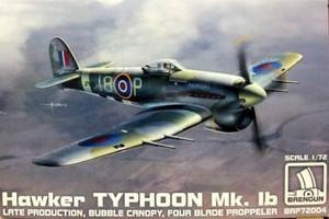 1/72 ホーカー タイフーン Mk.1b (4翅プロペラ)
