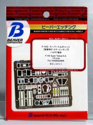 1/48 F-14Dスーパートムキャット 接着剤付カラーエッチング (ハセガワ用)